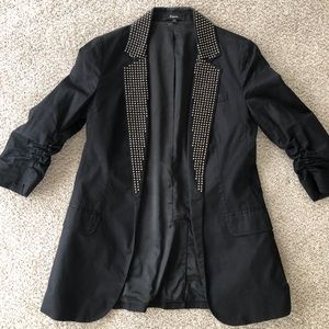 Express black blazer with bead detail, size 0